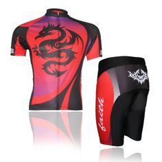 Baleaf-Mens-Short-Sleeve-Cycling-Jersey-Dragon-Style-XXL-0