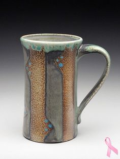 Kathy Phelps Stripey Mug at MudFire Gallery