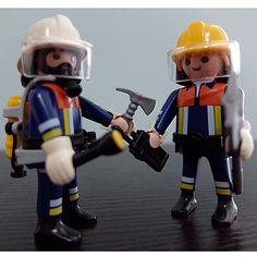多謝Quaa Bi,Fox妹妹! 呢二隻救火英雄好正,最正係個BA樽! #playmobil   Playmobil Blog