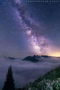 Dreaming High - After nightfall in Mt. Rainier NP.