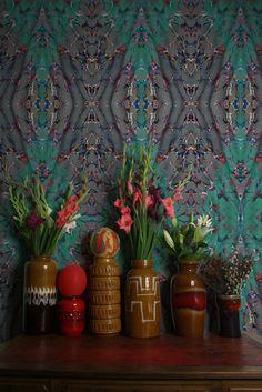 Timorous Beasties Wallcoverings - Ex Libris