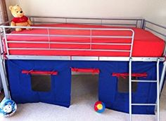 under mid-sleeper bed curtains to make a den with