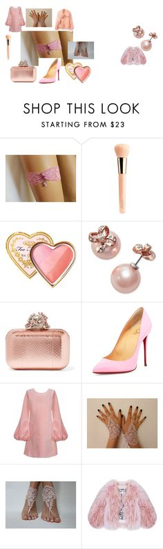 """""""pink dreams"""" by alessandra-moretti-1 on Polyvore featuring moda, Guerlain, Too Faced Cosmetics, Kate Spade, Jimmy Choo, Christian Louboutin, Cynthia Rowley ve Florence Bridge"""