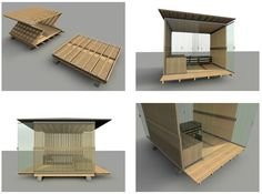 The submission period for the Design It Shelter Competition is over; now it's time to exercise your right to an anonymous online opinion by voting for your favorite shelter. Mobile Architecture, Architecture Design, Folding House, Emergency House, Portable Shelter, Shelter Design, Tiny House Design, Modular Homes, Interior