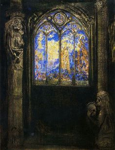 """""""Stained glass window"""" Redon"""