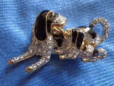 Vintage DOG Brooch gold tone by PUGHALLVINTAGE on Etsy, $15.00