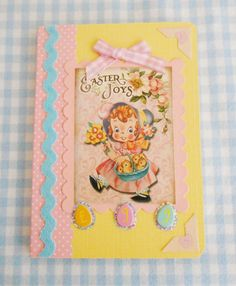 Retro Inspired Easter Notebook by picocrafts on Etsy, $5.00