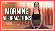 5 min Morning Affirmation Meditation - Positive Thoughts Daily Meditation, Meditation Practices, Morning Affirmations, Positive Affirmations, Free Yoga Videos, Yoga Youtube, Morning Yoga, Vinyasa Yoga, Yin Yoga