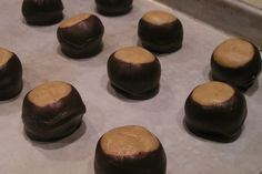 Two Buckeye recipes - one silky smooth and the other with graham cracker crumbs