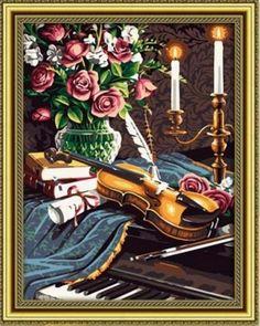 """вАлмазе RU - арт.14225 Раскраска по номерам """"Музыкальный вечер"""" [размер 40*50 см.] - 1500 руб. - в наличии!"""