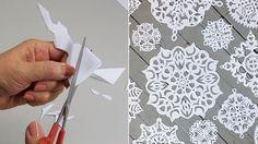 Végy egy papírlapot, ollót és ezt a másolómintát... Biztos vagyok benne, hogy egy órán belül kétségtelenül újévi hangulatod lesz! - Bidista.com - A TippLista! Preschool Activities, Happy New Year, Snowflakes, Christmas Decorations, Paper Crafts, Montessori, Advent, Paper Snowflakes, Paper Envelopes