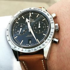 2015 Omega Speedmaster '57, with a 41.5mm steel case and a 9300 Co-Axial movement beating inside.