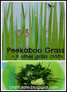 Craftulate: Peekaboo Grass and 8 other grass crafts - perfect for In the Tall Tall Grass