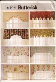 free valance curtain patterns | valance sewing pattern – catalog