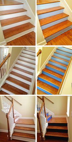 TPcraft.com: DIY Ombre Staircase