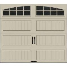 Clopay Gallery Collection 8 Ft. X 7 Ft. 6.5 R Value Insulated Desert Tan Garage  Door With Arch Window