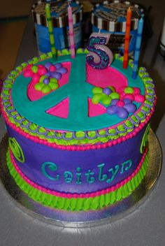 Peace Sign Cake — Children's Birthday Cakes