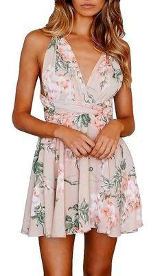 Genevieve Floral Print Tie Up Dress - Multi