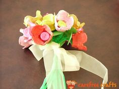Tie tulips together with bow