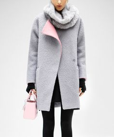 Love this Gray Wool-Blend Funnel Collar Coat on #zulily! #zulilyfinds