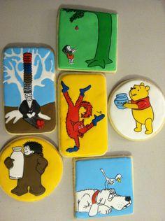 Children's book baby shower cookies