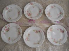 antique french pink roses theodore haviland by polkadotrose, $54.00