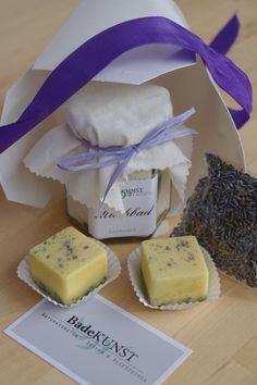 "Badeset ""Lavendel"" (mittel) von BadeKunst auf DaWanda.com"
