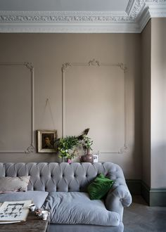 Farrow And Ball Living Room, Farrow And Ball Paint, Farrow Ball, Living Room Colors, Living Room Grey, Top Paint Colors, Interior Walls, Interior Design, Trending Paint Colors