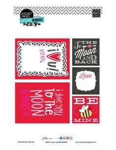Valentine's POCKET PAGES™ Free Printable 03 | me & my BIG ideas