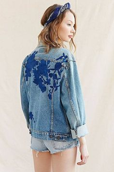Urban Renewal Recycled Embroidered Denim Jacket ($250)