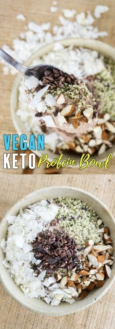 Our Vegan Protein Breakfast Bowl will become a new staple in your household no matter your love for meats and dairy! Our Vegan Protein Breakfast Bowl will become a new staple in your household no matter your love for meats and dairy! Keto Vegan, Vegan Keto Recipes, Vegetarian Keto, Ketogenic Recipes, Paleo, Healthy Recipes, Vegan Keto Diet Plan, Veggie Keto, Ketogenic Diet