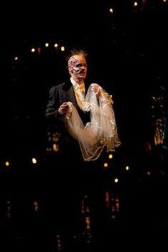 Phantom of the Opera. Broadway 2012. Final Lair. He looks so heart broken.
