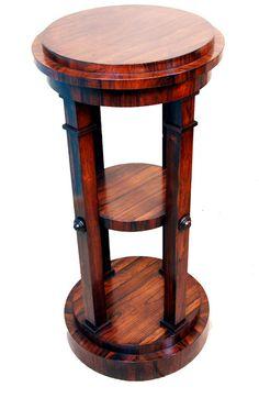 Antique Regency Rosewood Sculpture Stand, Or Pedestal