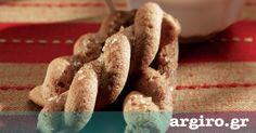 Κουλουράκια κανέλας με λάδι και καστανή ζάχαρη από την Αργυρώ Μπαρμπαρίγου | Τραγανά, νηστίσιμα κουλουράκια χωρίς αυγά. Ταιριάζουν τέλεια με τον καφέ σας!