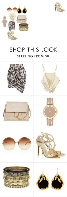 """Friday night fashion"" by michelleboucher ❤ liked on Polyvore featuring Zimmermann, Chloé, Linda Farrow, Daytrip and Aurélie Bidermann"