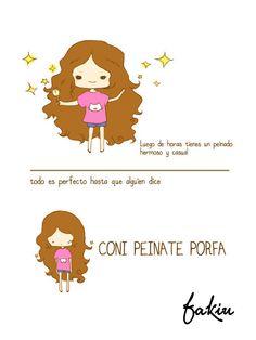 Holaa Viernress me pasa todo el tiempo hahaha #viernes #halooween #pelo #ParaQueMePeino #Friday #hair #chicas FAKIU CLOTHES <3