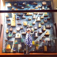 """ANTHROPOLOGIE, Manhattan, New York, """"Homeware Gallery Wall"""", photo by Shannon Campbell, pinned by Ton van der Veer"""