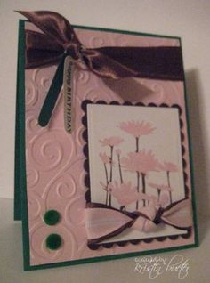 Birthday Daisies by eberlinek - Cards and Paper Crafts at Splitcoaststampers