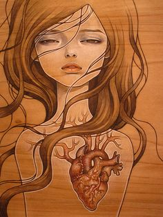by audrey kawasaki, art opening 12/12/09 by allienyc, via Flickr