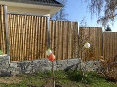 effect full garden fence made of bamboo