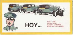 publicidad de los taxis David en los años 30 #barcelona