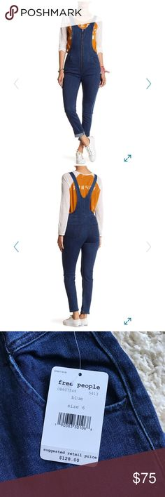 Brand New Free People Jax Denim Jumpsuit!! These overalls are so ridiculously fabulous, I can hardly stand it! Sold out everywhere. Free People Jeans Overalls