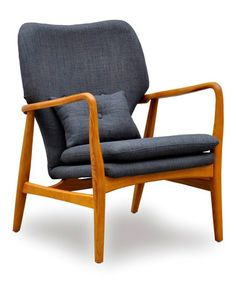 Take a look at this Charcoal Madison Lounge Chair & Pillow by International Design on #zulily today!