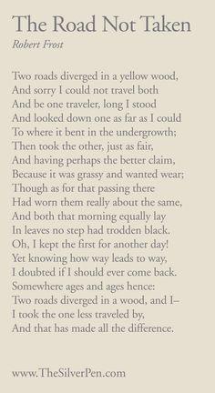 Road Not Taken ~ Robert Frost