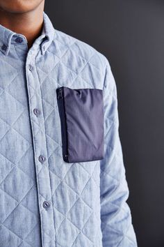unstablefragments: Penfield Nylon Pocket Shirt Jacket Buy it @ UO Cool Outfits, Casual Outfits, Stylish Men, Shirt Jacket, Shirt Style, Look, Shirt Designs, Menswear, Mens Fashion