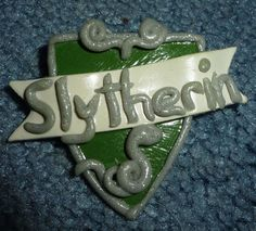 Slytherin House Crest Pin or Magnet  G003 by artsdaughter on Etsy (Accessories, Pin, Art, jewelry, brooch, clasp pin, magnet, slytherin, house crest, harry potter, draco, prof snape, ravenclaw, gryffindor, hufflepuff, handmade)