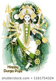 Vector design of Indian Goddess Durga sculpture for Durga Puja holiday festival of India in Dussehra Vijayadashami Navratri Indian Goddess, Durga Goddess, Happy Durga Puja, Festivals Of India, Sculpture, Holiday Festival, Vector Design, Create Yourself, Royalty Free Stock Photos