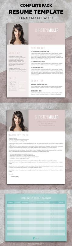 You can now revamp your entire application with this brilliant feminine resume pack. Cover Letter For Resume, Cover Letter Template, Cv Template, Resume Templates, Cover Letters, Cv Design, Resume Design, Graphic Design, Portfolio Resume