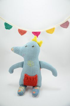 Stuffed Toy Animal Doll Softie Creature with Long by MeandTex, $32.00