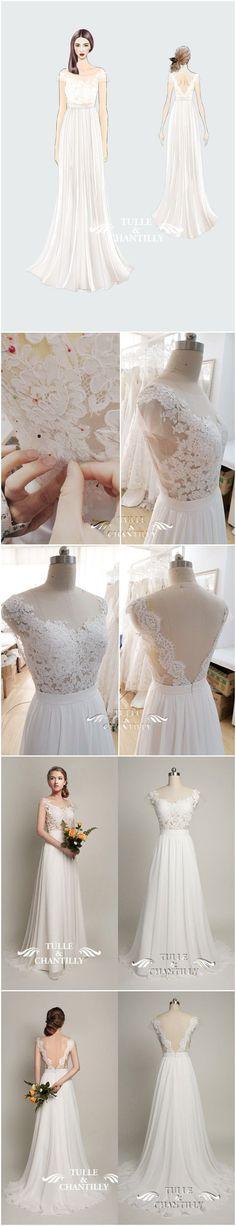 How to make a vintage open back wedding dress #weddingdress #diywedding #beachweddingdress